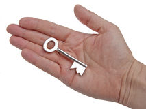 Key in a Hand Stock Photos