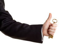 Key in hand Royalty Free Stock Images