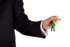 Key in hand Stock Images