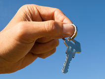 Key in hand. Royalty Free Stock Image
