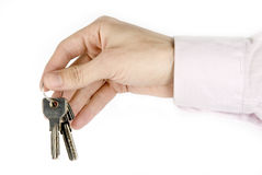 Key in the hand Stock Images