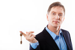Key in hand businessman. Royalty Free Stock Photos