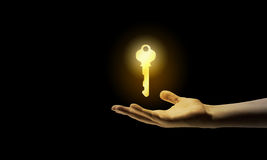 Key in hand Stock Photo
