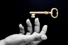 Key in hand levitation Stock Images