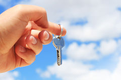 Key in hand. Stock Images