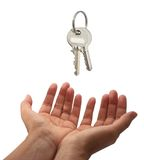 Key handover Stock Photos