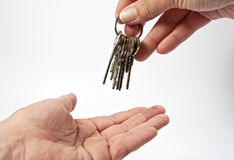 Key and hands Royalty Free Stock Image
