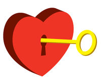 Key of heart Stock Images