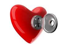 Key from heart Stock Image