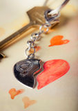 Key with heart Royalty Free Stock Photos