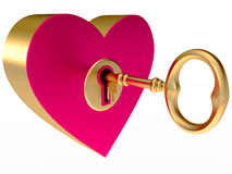 Key from the heart Royalty Free Stock Photos