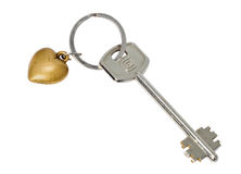Key from heart Royalty Free Stock Images