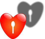 Key of the heart. Heart searching for a key Vector Illustration