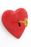 Key of heart Stock Image