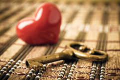 Key and heart Royalty Free Stock Images