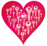 Key heart Royalty Free Stock Images