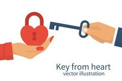 Key from heart vector illustration