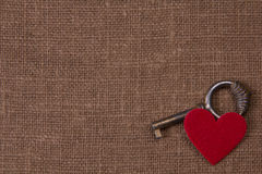Key and hearts Royalty Free Stock Images