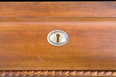 Key Hole. On wood furniture Royalty Free Stock Photography