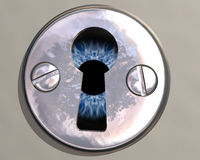 Through the key hole Royalty Free Stock Images