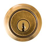 Key Hole. Dead Bolt Lock External Shield with Key Slot. Clipping Path included Stock Photos