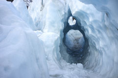 Free Key Hole Ice Shape In Franz Josef Ice Glacier, New Zealand Stock Photos - 47286233