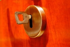 Key and hole Royalty Free Stock Photography