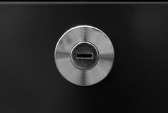 Key hole of office steel cabinet Stock Photography