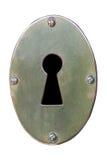 Key Hole on a white background Royalty Free Stock Photo