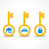 Key for home ,car and lock Royalty Free Stock Image
