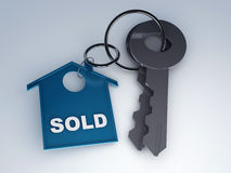 Key with home. sold concept Royalty Free Stock Photo