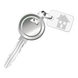 Key with home tag Royalty Free Stock Photography