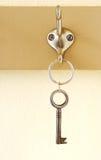 Key on hook Royalty Free Stock Photos