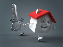 Key and house Royalty Free Stock Photo