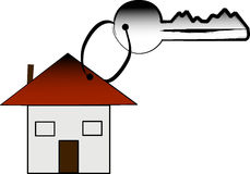 Key and house Stock Photo