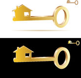 Key house. Illustration of the golden key house Stock Photo