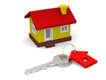 Key and house Royalty Free Stock Image