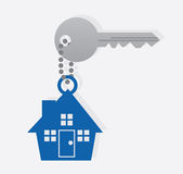 Key House Chain Stock Images