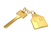 Key and house gold Royalty Free Stock Images