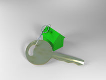 Key with house key ring Royalty Free Stock Photography