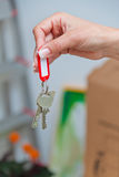 Key of a house move. Tenant Stock Image