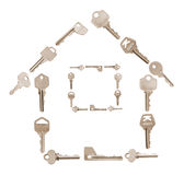 Key in House Shape Royalty Free Stock Photos