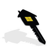Key with house on it vector illustration Royalty Free Stock Photo