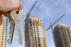 Key with houses Stock Photography
