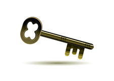 Key icon. Isolated golden key icon,  illustration Royalty Free Stock Photography