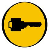 Key icon. Vector illustration of a key royalty free illustration