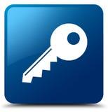 Key icon blue square button Stock Photo