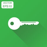 Key icon. Business concept unlock symbol pictogram. Vector illus Royalty Free Stock Photography