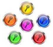 Key Icon Button Royalty Free Stock Photos