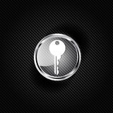 Key icon, door lock symbol Stock Image